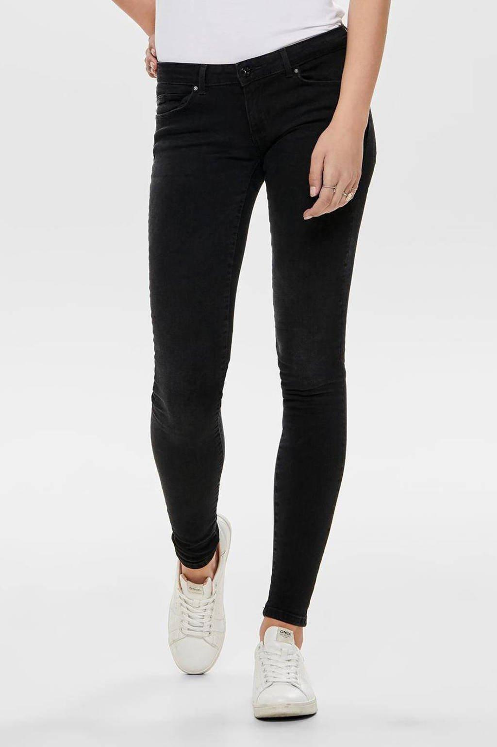 ONLY extra low waist skinny jeans ONLCORAL denim black, Denim black
