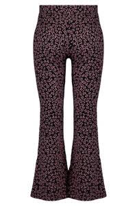 MS Mode Plus Size flared legging zwart/roze, Zwart/roze