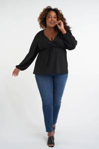MS Mode overslag top zwart, Zwart