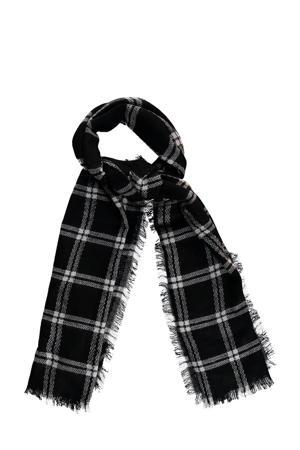 geruite sjaal zwart/wit