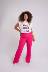 MS Mode flared pantalon roze, Roze