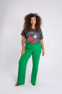 MS Mode flared pantalon groen, Groen