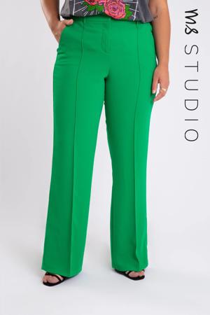 flared pantalon groen