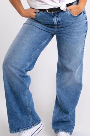high waist wide leg jeans stonewashed