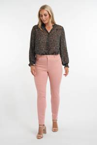 MS Mode slim fit jeans oudroze, Oudroze