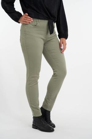 slim fit jeans olijfgroen