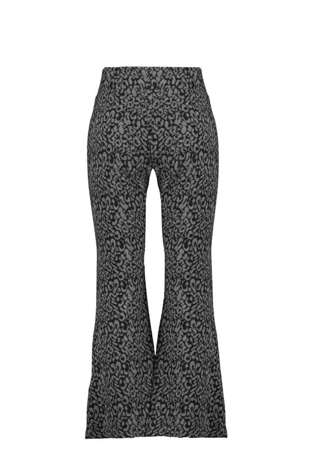 MS Mode Plus Size flared legging met panterprint grijs, Grijs