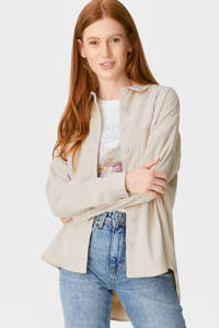 C&A Clockhouse ribgebreide corduroy blouse beige, Beige
