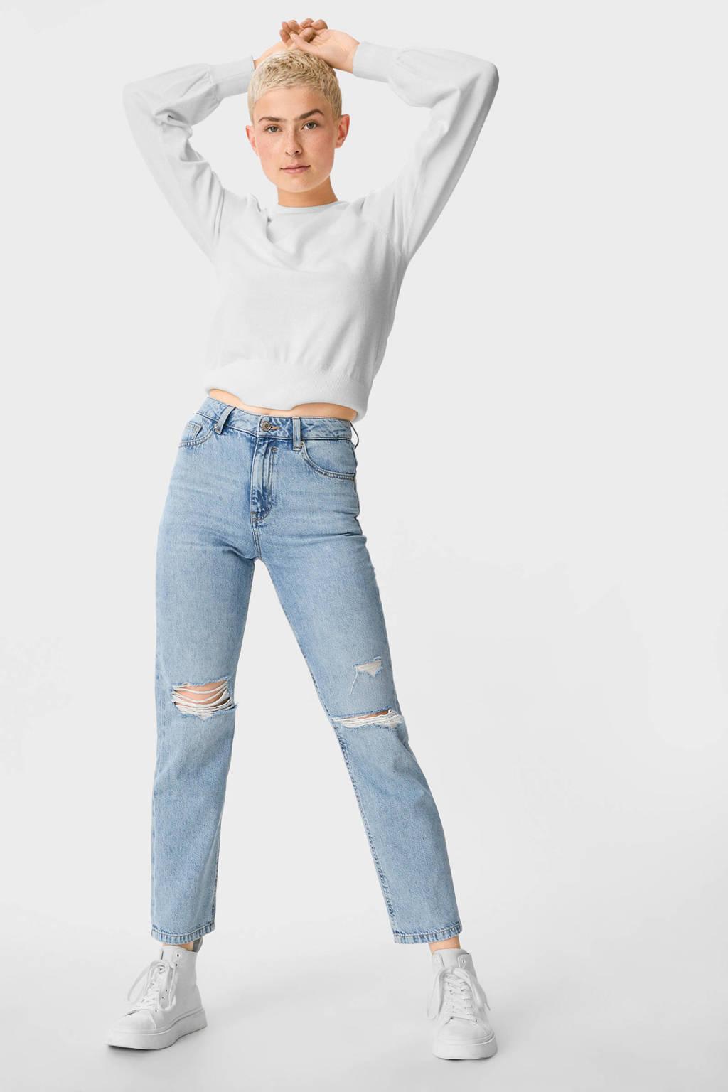 C&A Clockhouse boyfriend jeans lichtblauw, Lichtblauw