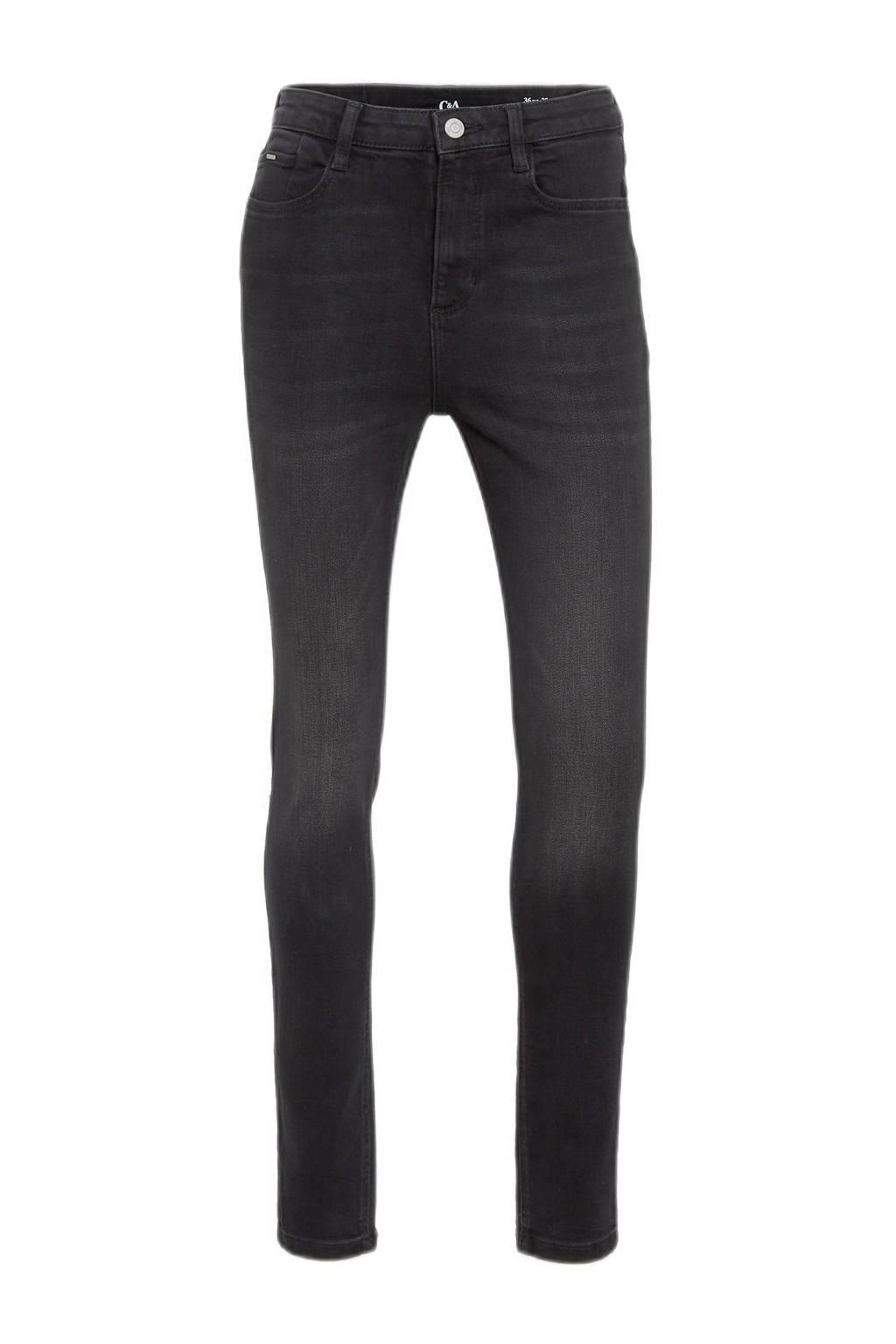 C&A high waist skinny jeans zwart, Zwart