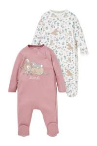 Disney Baby @ C&A boxpak - set van 2 oudroze/wit/groen/beige, Oudroze/wit/groen/beige