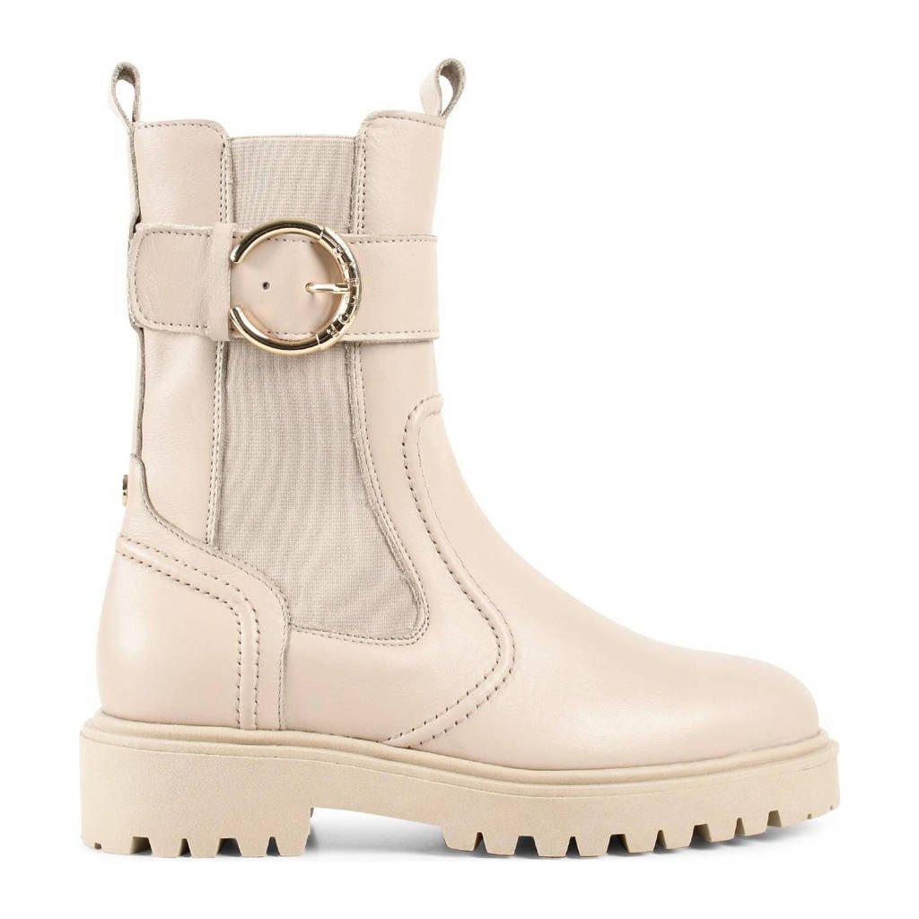 Haboob Thar  hoge leren chelsea boots lichtbeige, Beige / Off white