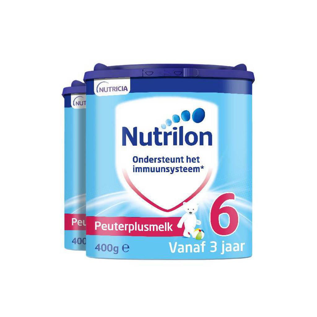 Nutrilon  6 Peuterplusmelk flesvoeding vanaf 3 jaar 400 gram - 2 stuks