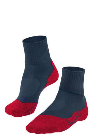 TK2 Cool Short wandelsokken donkerblauw/rood