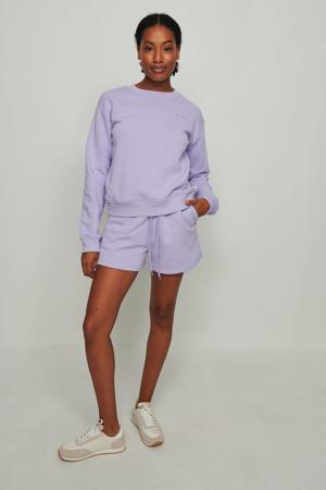 sweater met borduursels lila