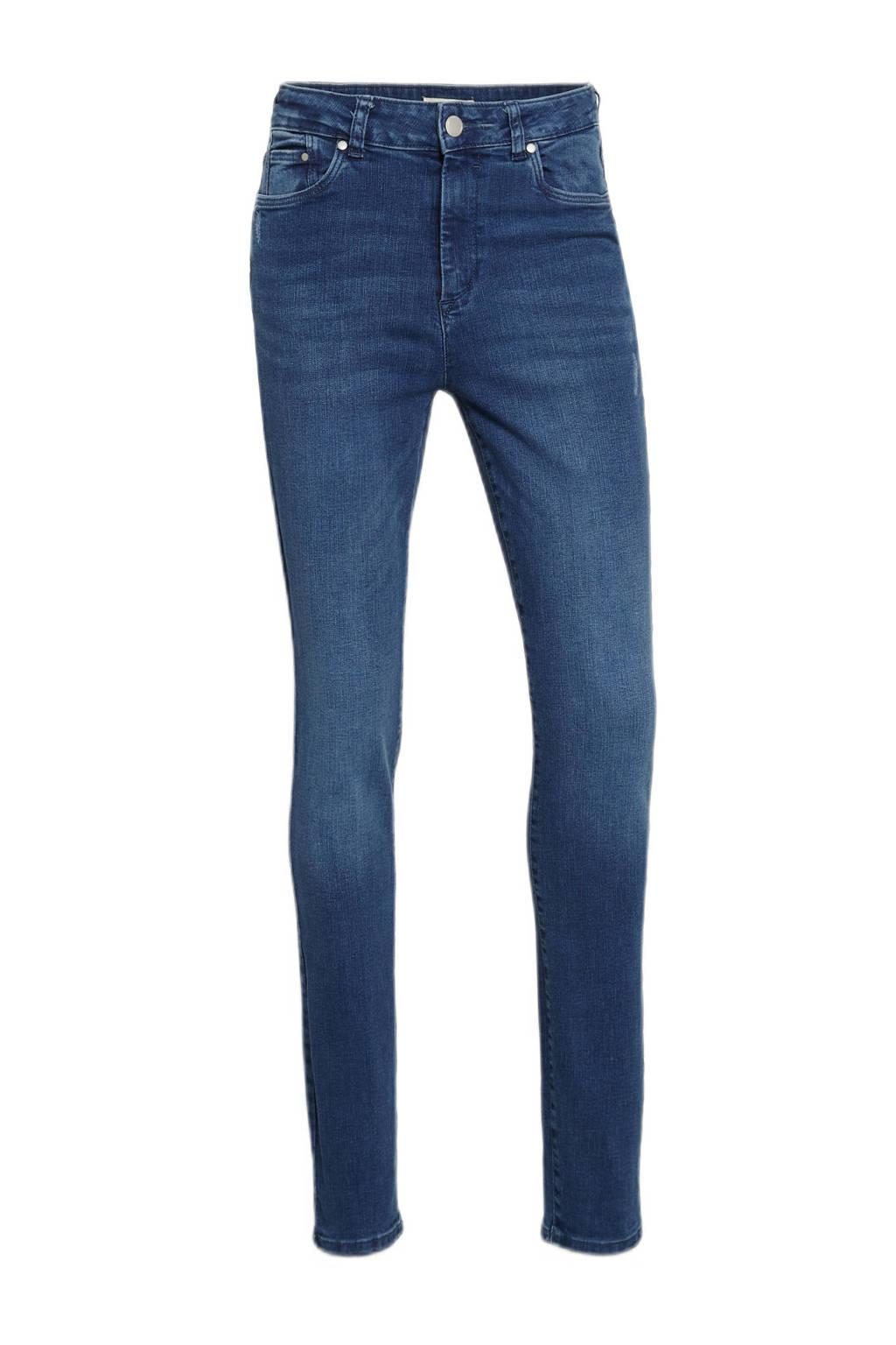 C&A skinny jeans met biologisch katoen blauw, Blauw