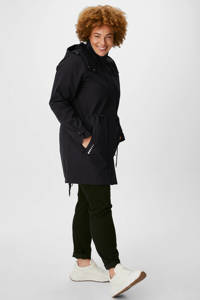 C&A The Outerwear softshell jas met capuchon zwart, Zwart
