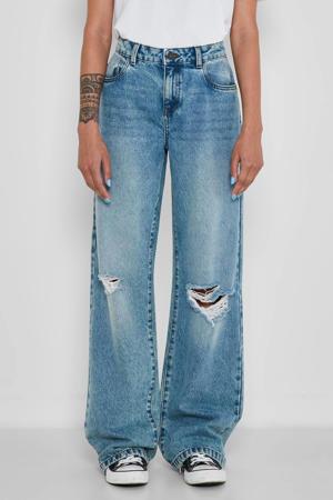 wide leg jeans Amanda light blue denim