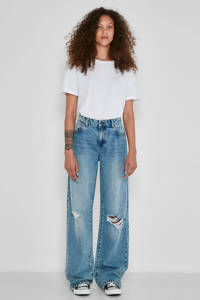 NOISY MAY wide leg jeans Amanda light blue denim, Light blue denim