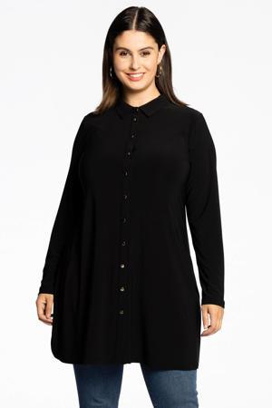 wijdvallende blouse met gouden knoopjes DOLCE zwart