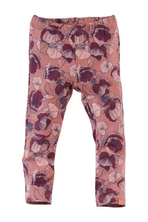 legging Vixie met all over print roestbruin/paars/roze