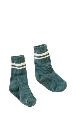sokken Loesbas petrol/ecru