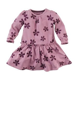 gebloemde jurk Meilani roze/donkerpaars