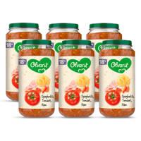 Olvarit Spaghetti Tomaat Ham - babyhapje vanaf 18+ maanden - 6x250 gram babyvoeding in een maaltijdpotje