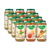 Olvarit Variatiemenu Maaltijd - babyhapje vanaf 18+ maanden - 3 smaken babyvoeding - 12 x 250 gram