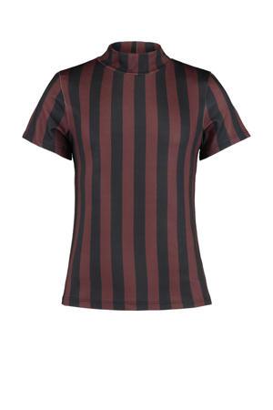 gestreept T-shirt Elora  bruin