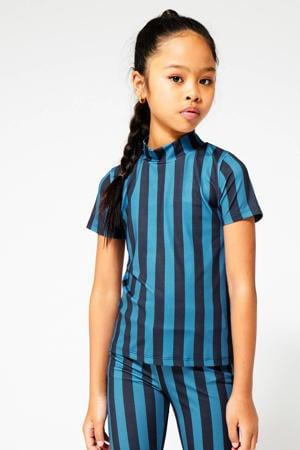 gestreept T-shirt Elora  blauw