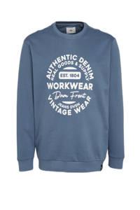 C&A sweater met printopdruk blauw, Blauw