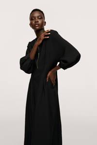 Mango jurk met plooien zwart, Zwart