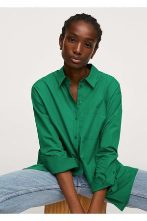 katoenen blouse oversized groen