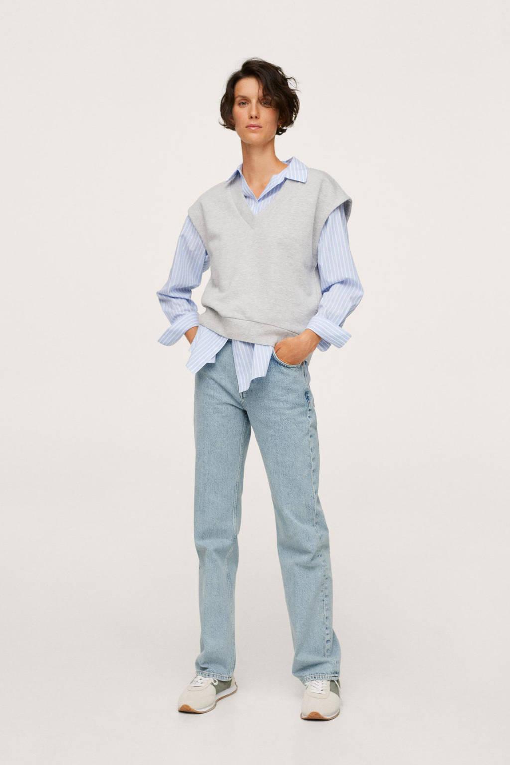Mango high waist straight fit jeans light blue, Light Blue