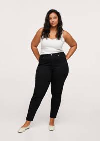 Mango Plus Size high waist skinny jeans zwart, Zwart