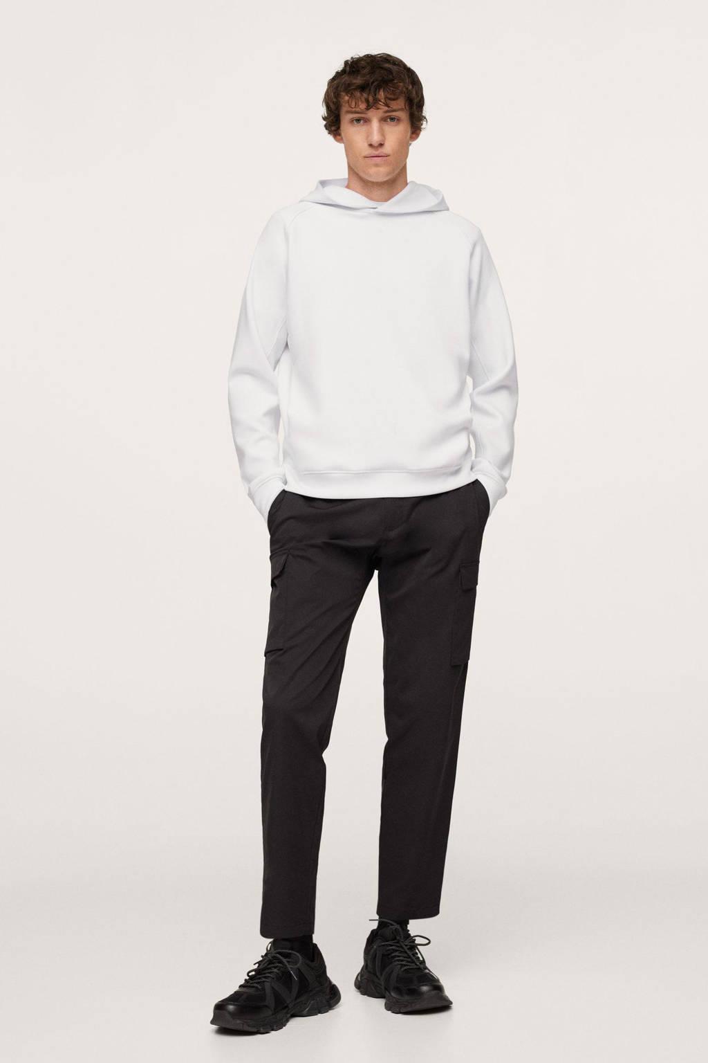 Mango Man hoodie wit, Wit