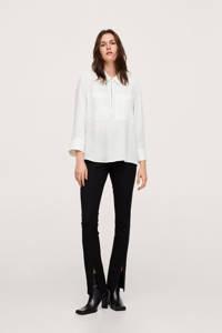 Mango blouse white wash, White wash