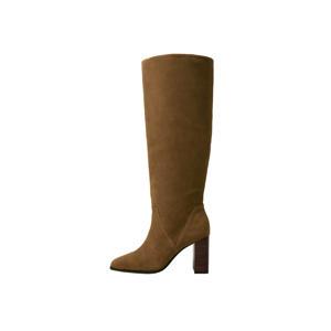 hoge suède laarzen bruin