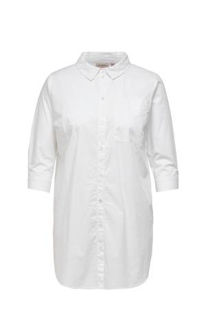 lang overhemd CARLANE wit