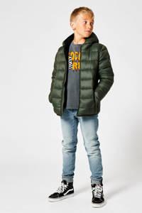 America Today Junior gewatteerde winterjas Jeremy  olijfgroen, Olijfgroen