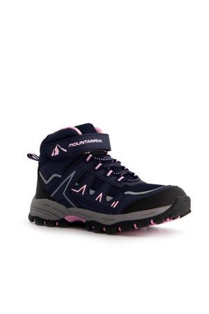 wandelschoenen blauw/roze kids
