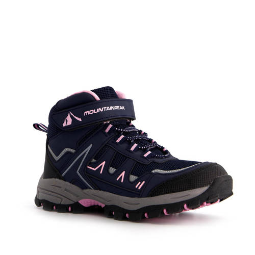 Scapino Mountain Peak wandelschoenen blauw/roze kids