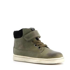 hoge leren sneakers groen