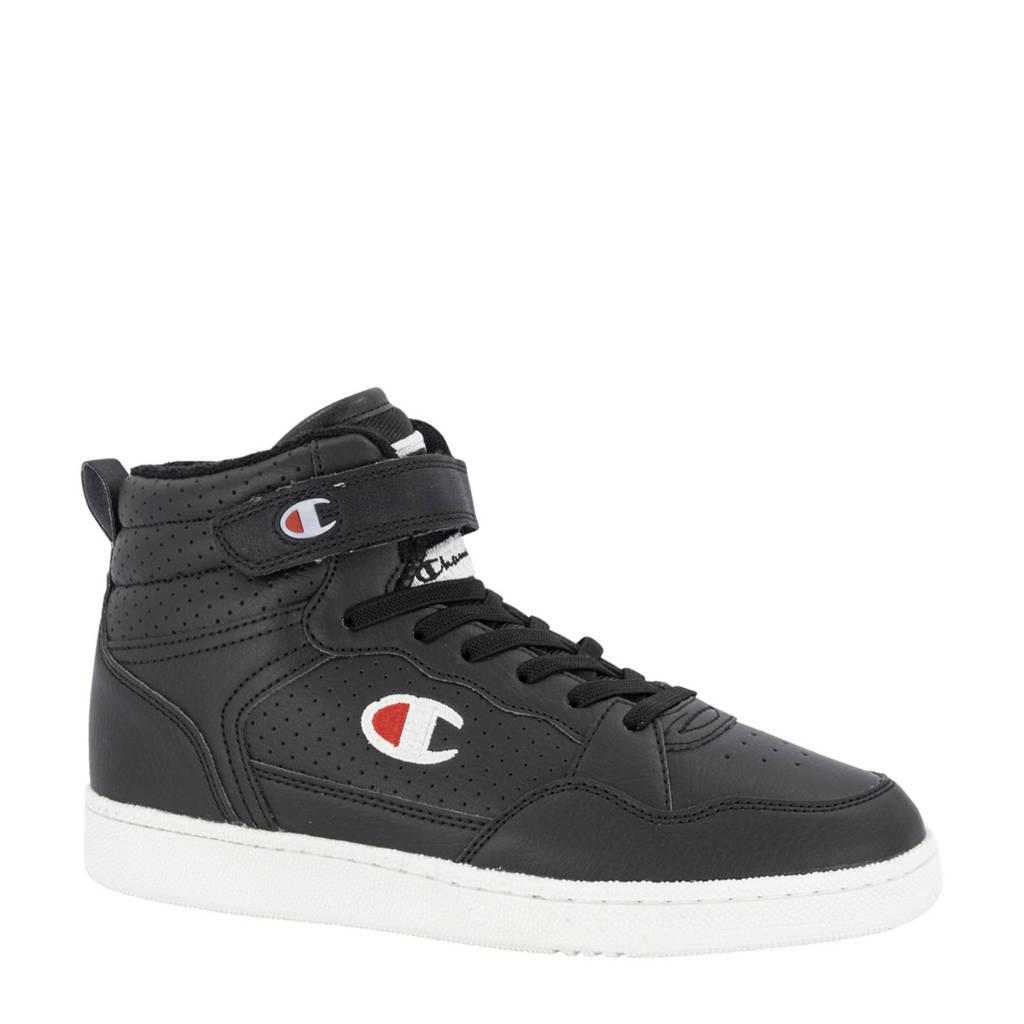 Champion Palm Lake Velcro Mid JR  hoge sneakers zwart, Zwart
