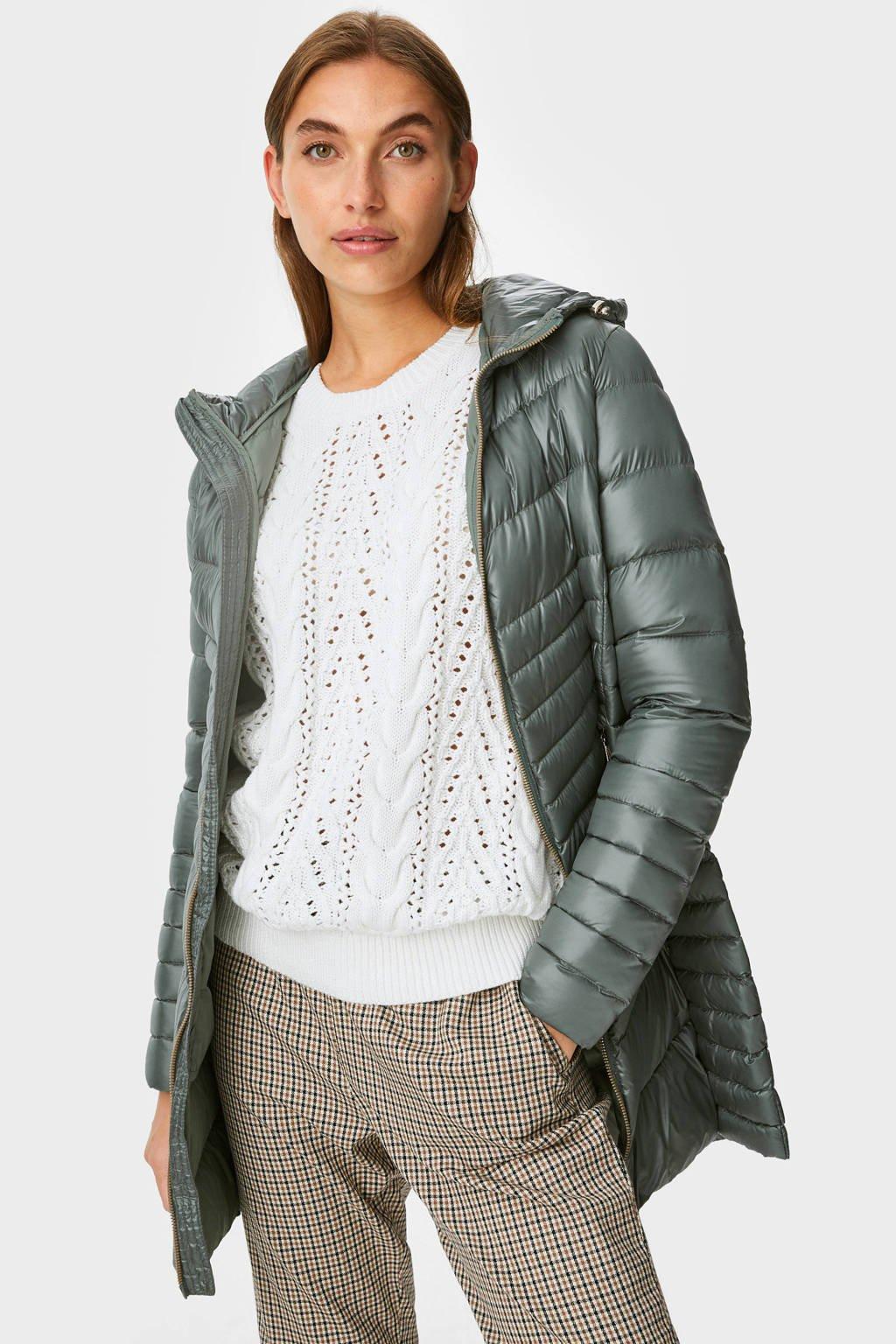 C&A The Outerwear gewatteerde jas groen, Groen