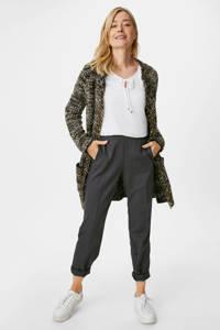 C&A vest met glitters zwart/wit/kaki, Zwart/wit/kaki