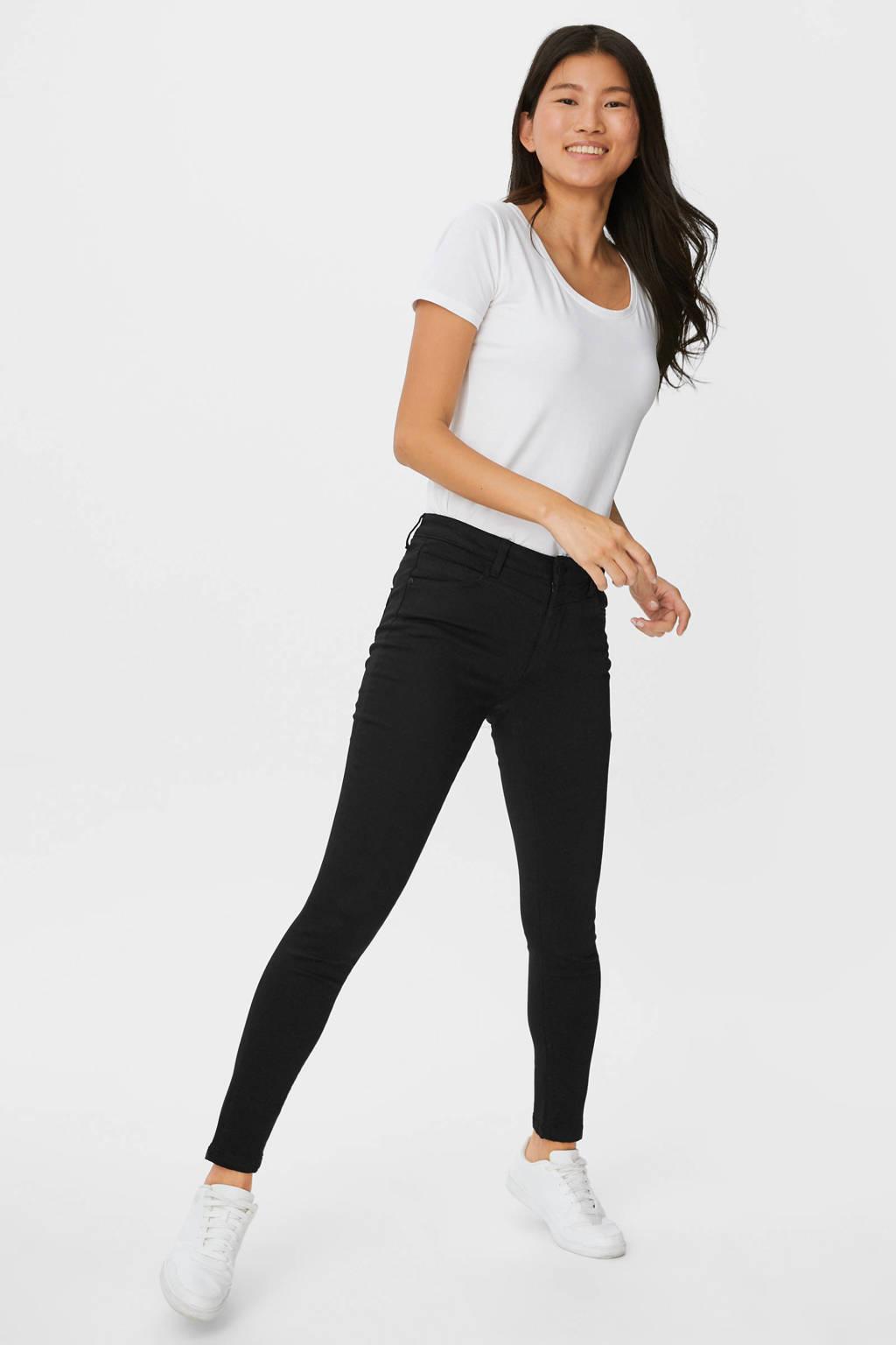 C&A skinny broek zwart, Zwart