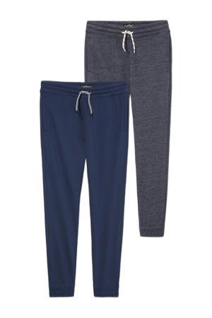 joggingbroek - set van 2 donkerblauw/antraciet