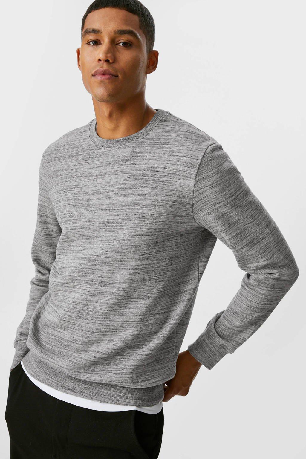 C&A Clockhouse gemêleerde sweater grijs, Grijs